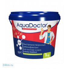 Aquadoctor хлор-шок C60T 1кг в таблетках