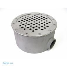 """Донный слив нержавейка D=250 мм (АТ 04.03), 13 м³/ч, 2"""" ВР (универсальный)"""